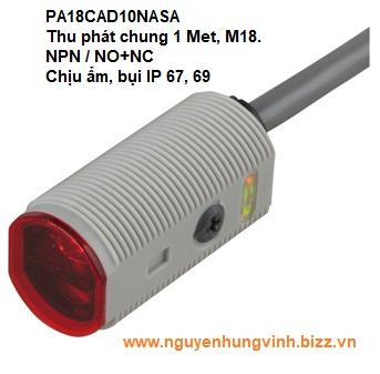 Cảm biến quang thu phát chung PA18CAD10NASA